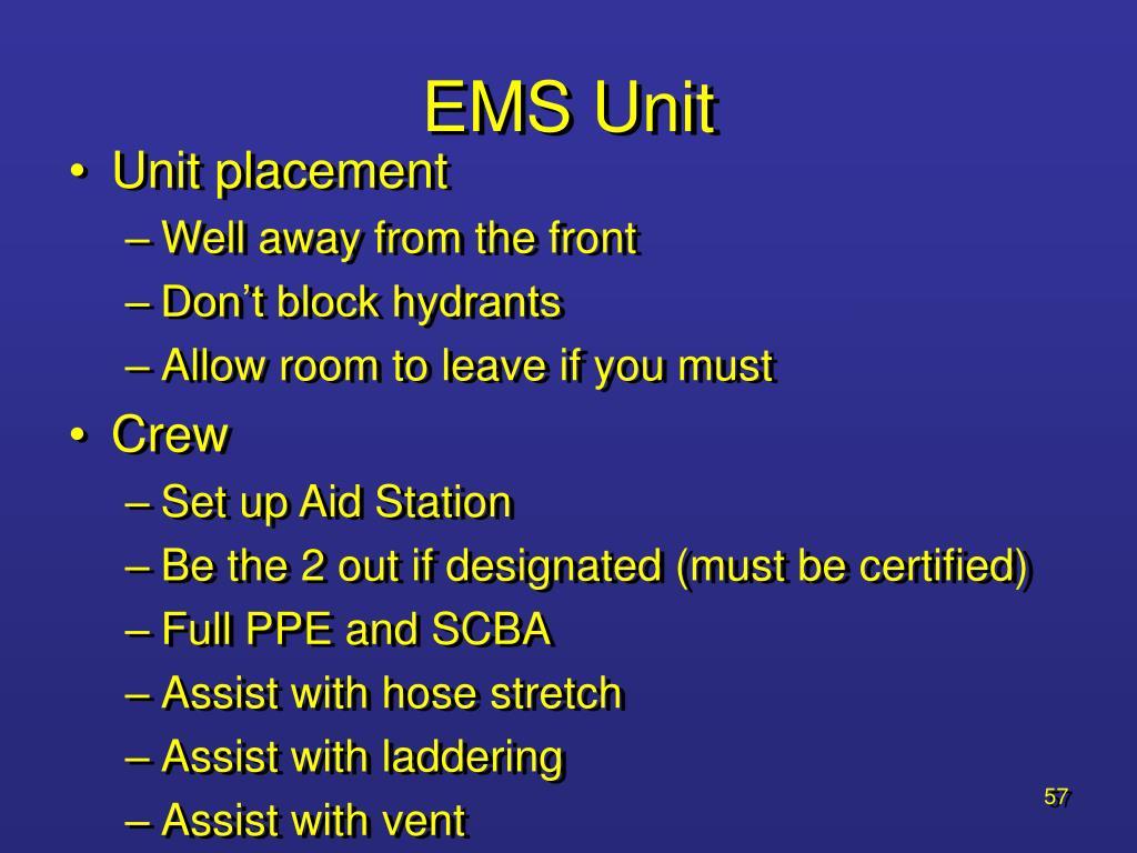 EMS Unit