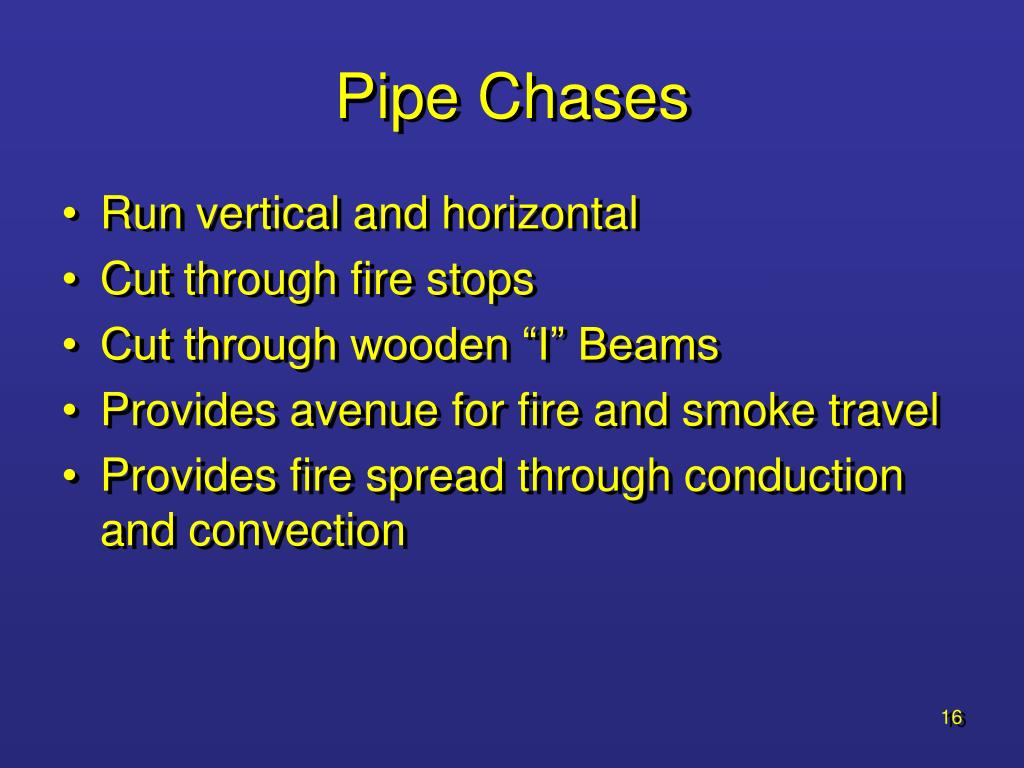 Pipe Chases