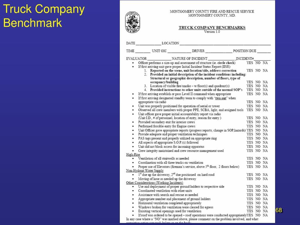 Truck Company Benchmark