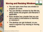 moving and resizing windows