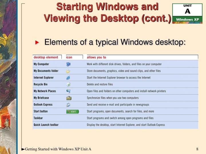 Starting Windows and