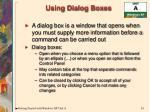 using dialog boxes