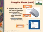 using the mouse cont