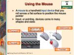 using the mouse
