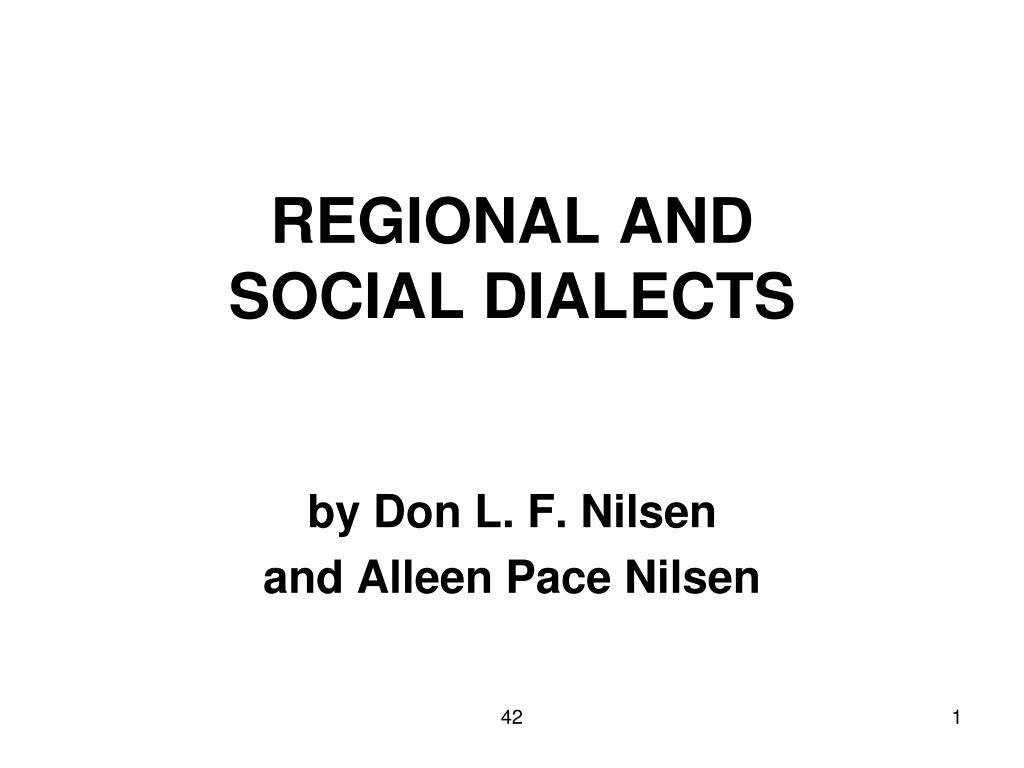 regional and social dialects l.