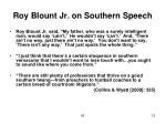 roy blount jr on southern speech