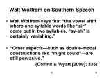 walt wolfram on southern speech