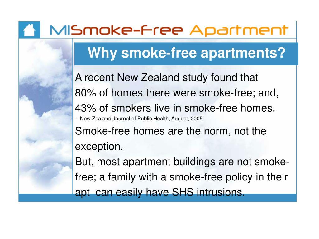 Why smoke-free apartments?