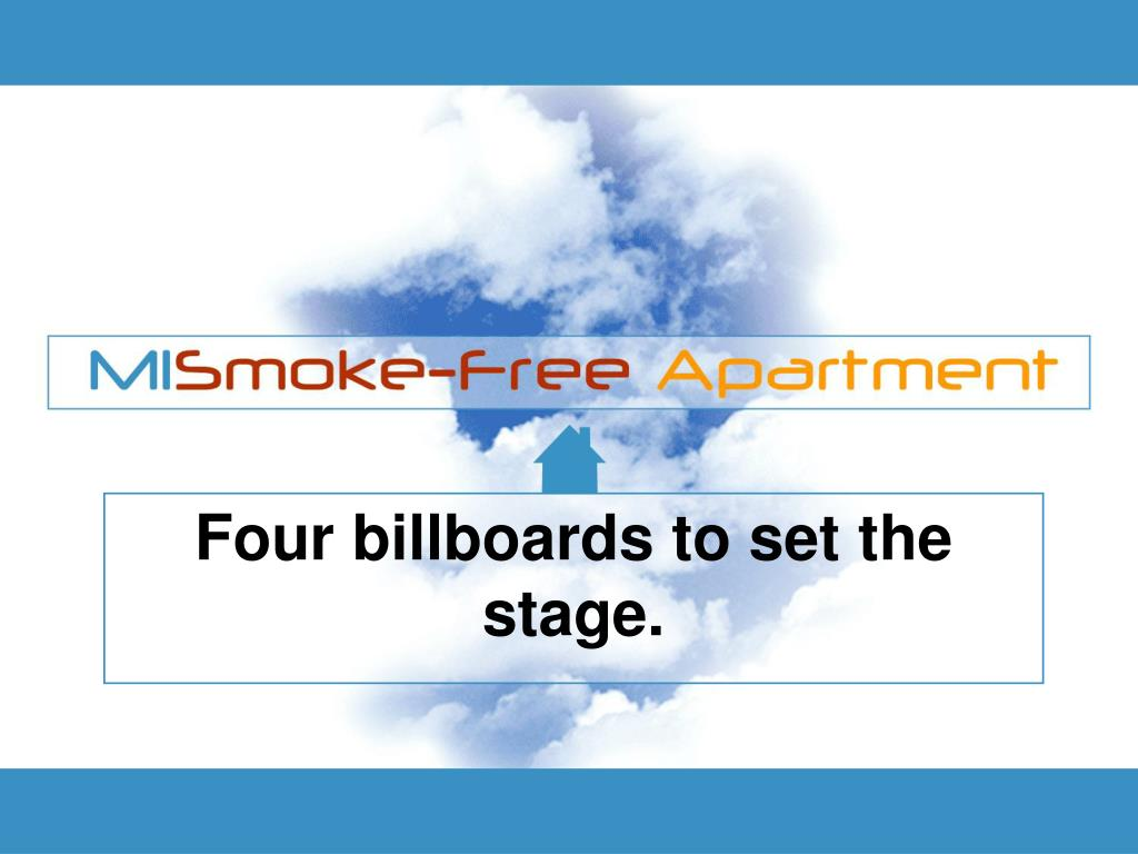Four billboards to set the stage.