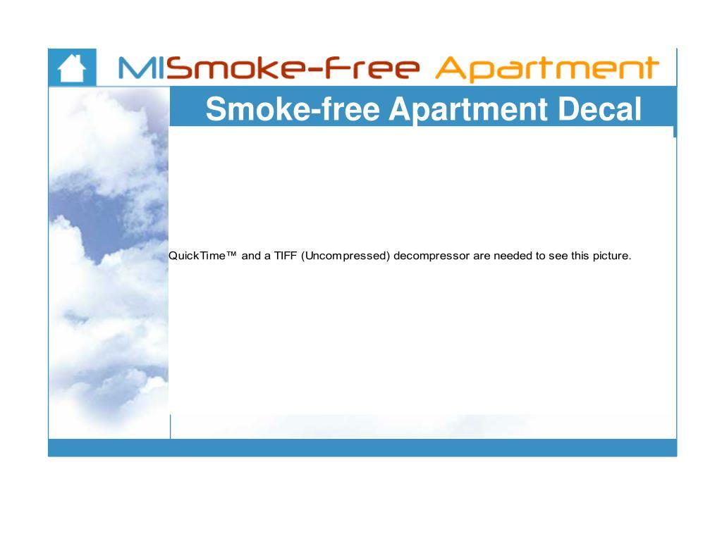 Smoke-free Apartment Decal