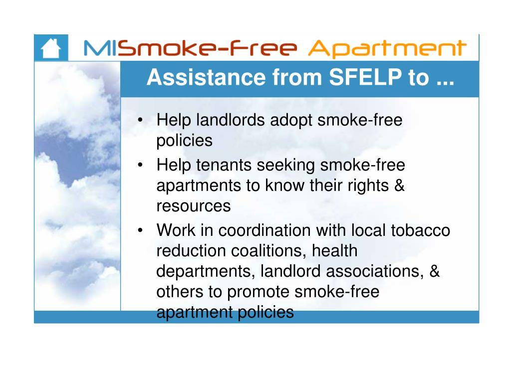 Assistance from SFELP to ...