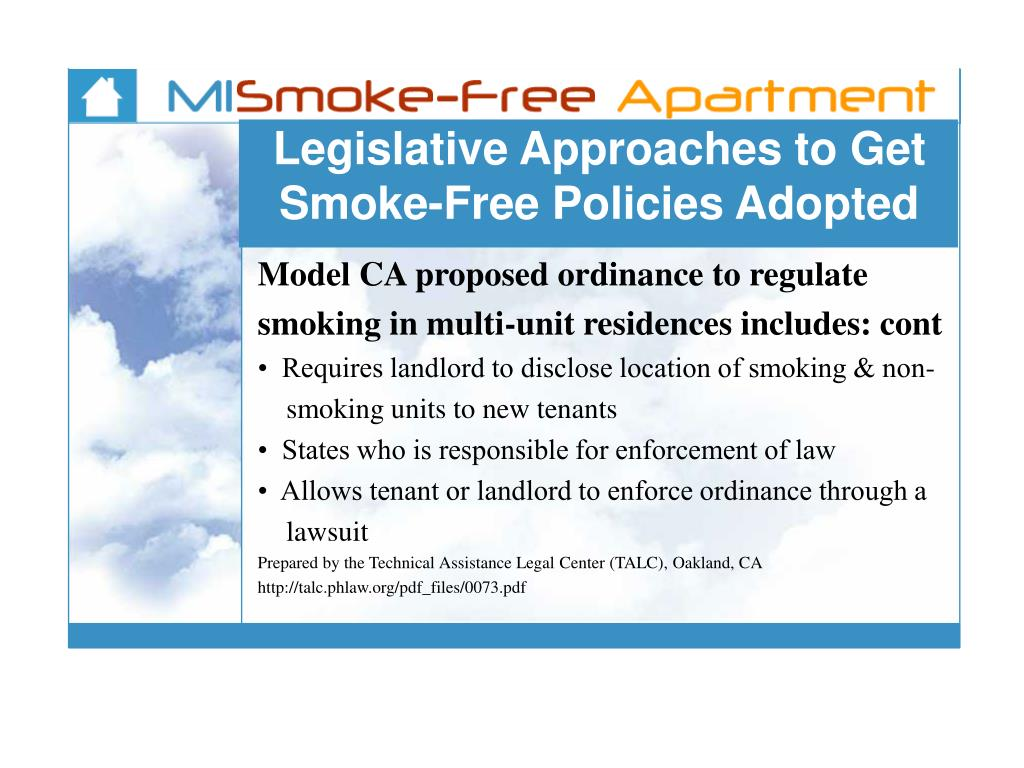 Legislative Approaches to Get Smoke-Free Policies Adopted