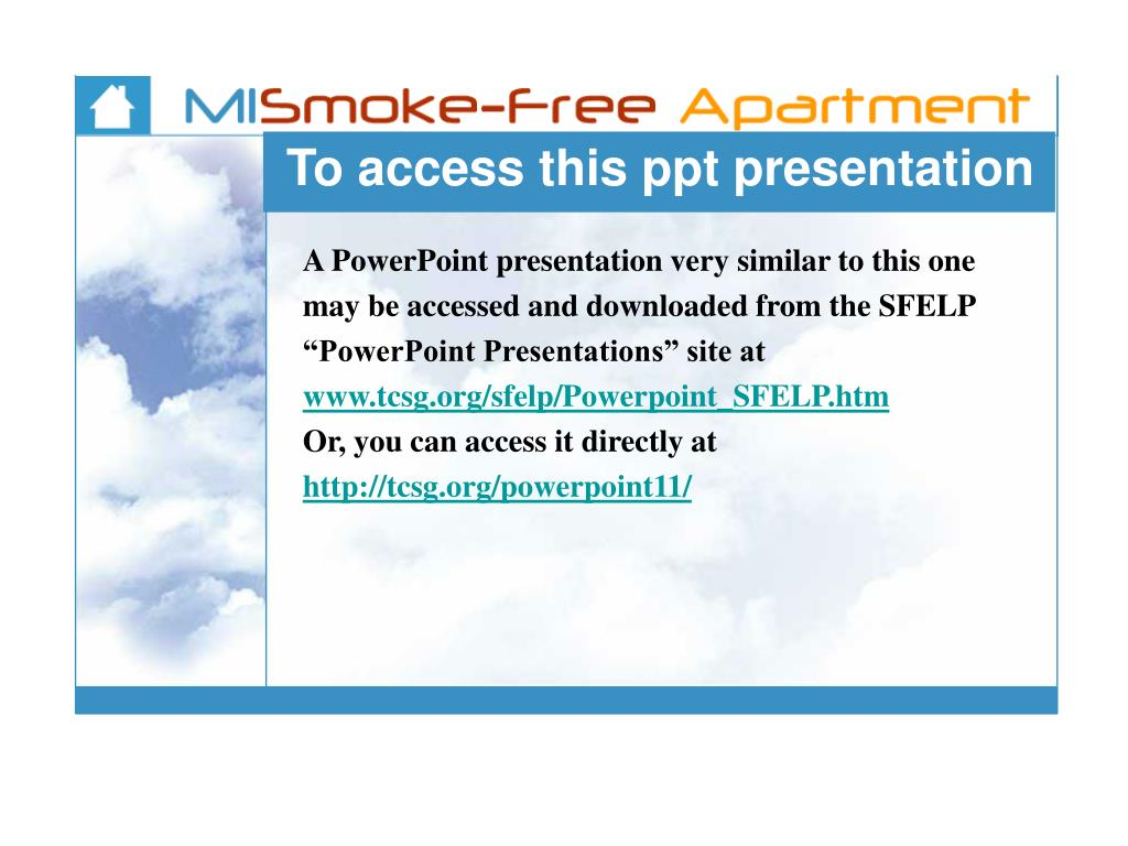 To access this ppt presentation