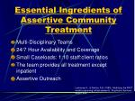 essential ingredients of assertive community treatment