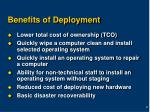 benefits of deployment