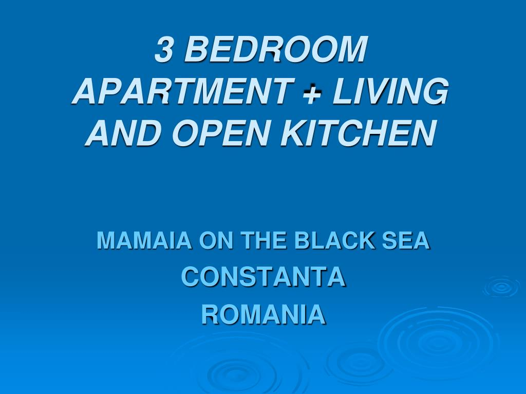 3 bedroom apartment living and open kitchen l.