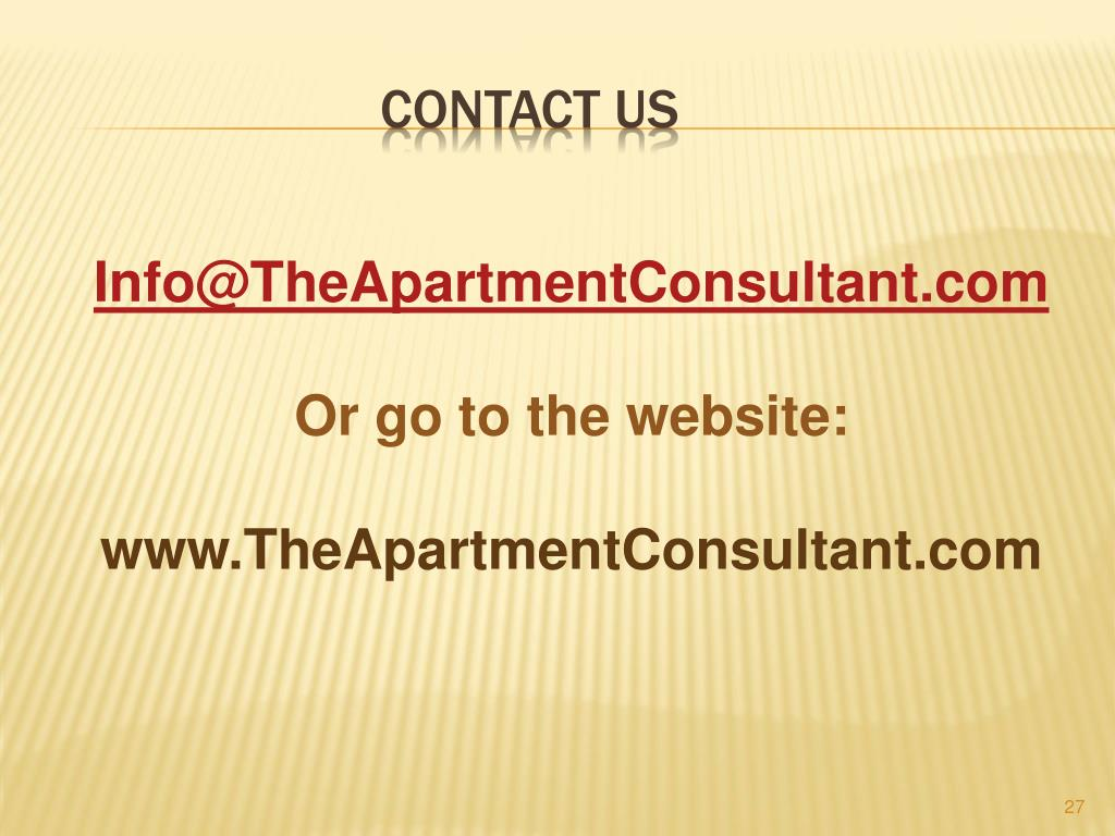 Info@TheApartmentConsultant.com