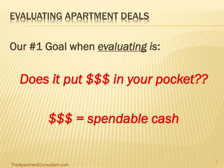 Evaluating apartment deals