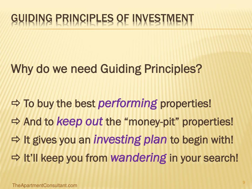Why do we need Guiding Principles?
