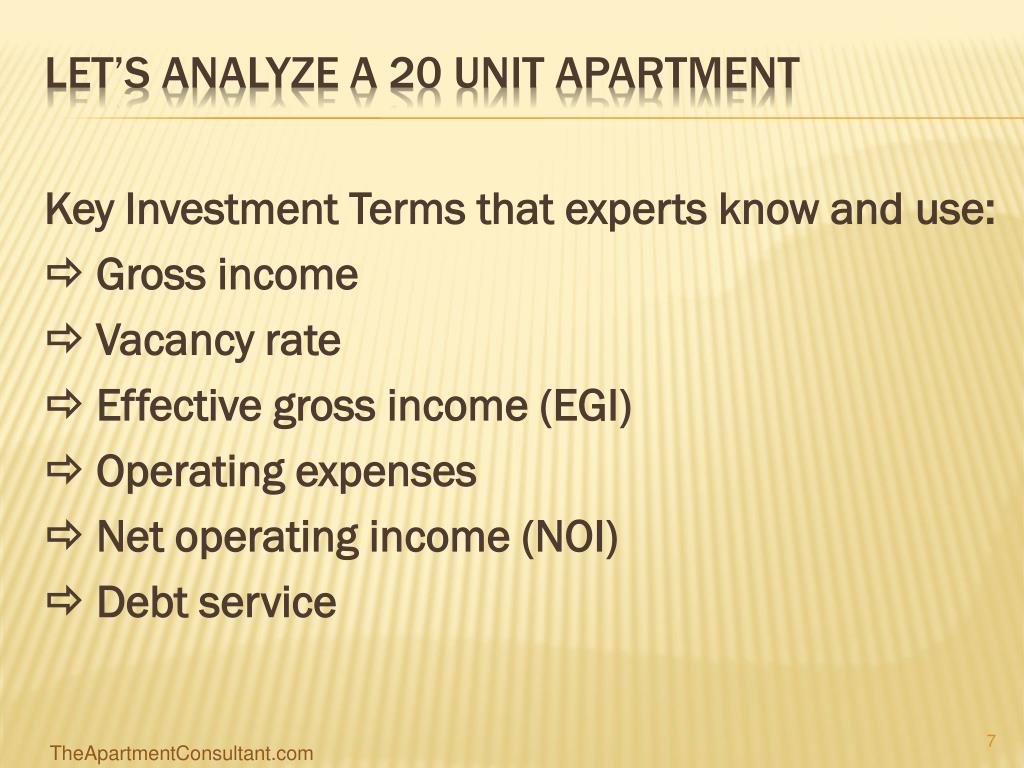 Key Investment Terms that experts know and use: