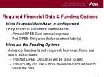 required financial data funding options