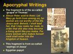 apocryphal writings