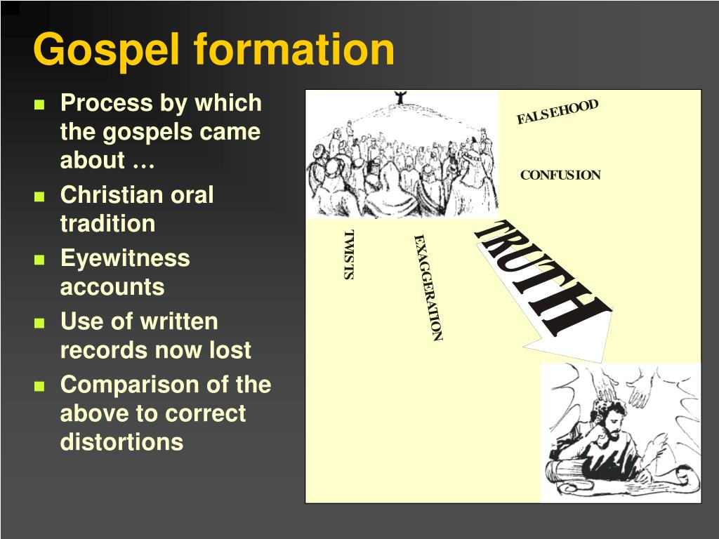 Process by which the gospels came about