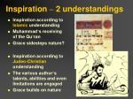 inspiration 2 understandings