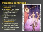 parables continued