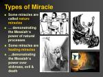 types of miracle