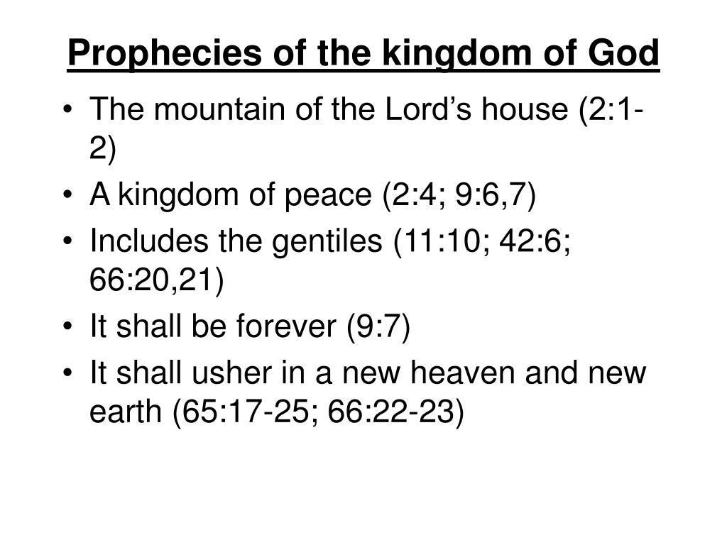 Prophecies of the kingdom of God