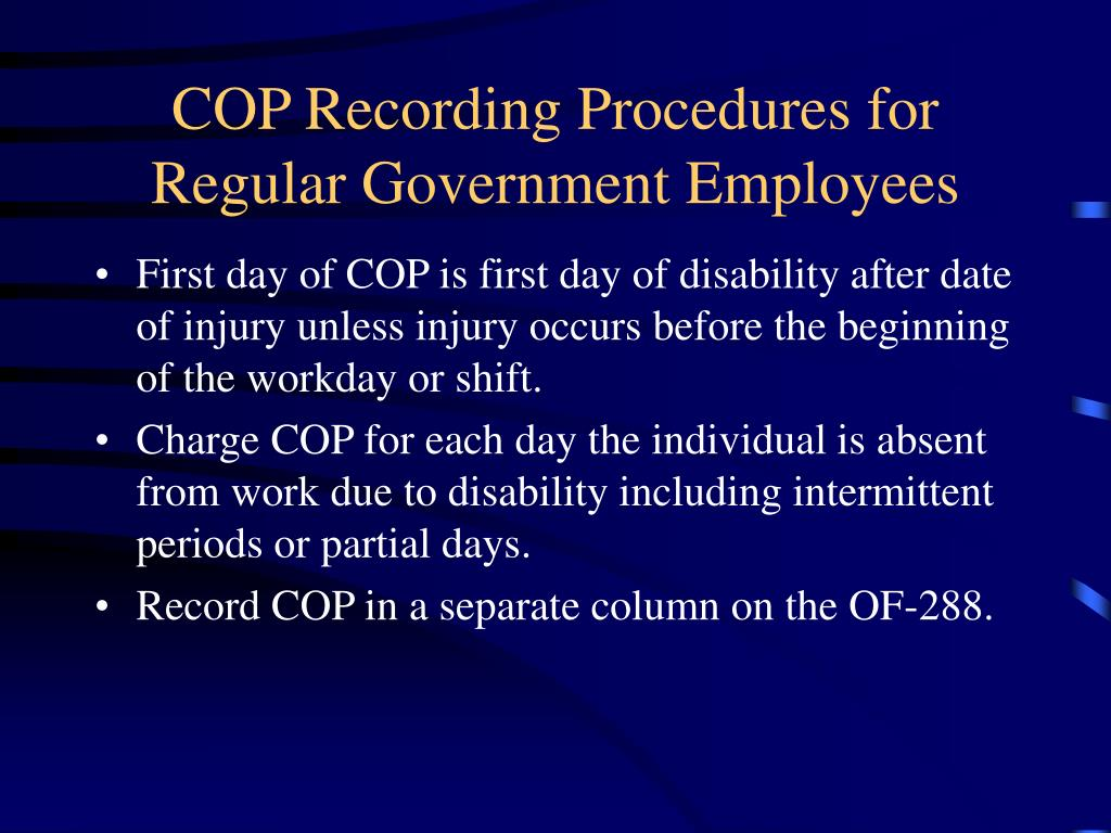 COP Recording Procedures for Regular Government Employees