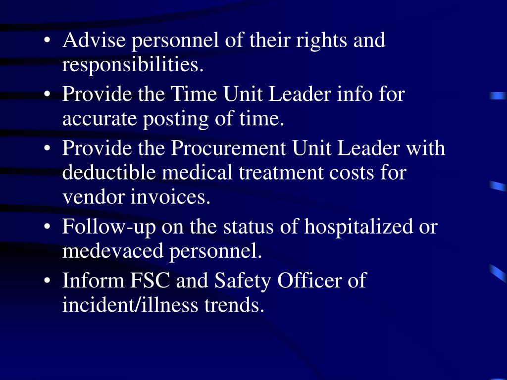 Advise personnel of their rights and responsibilities.
