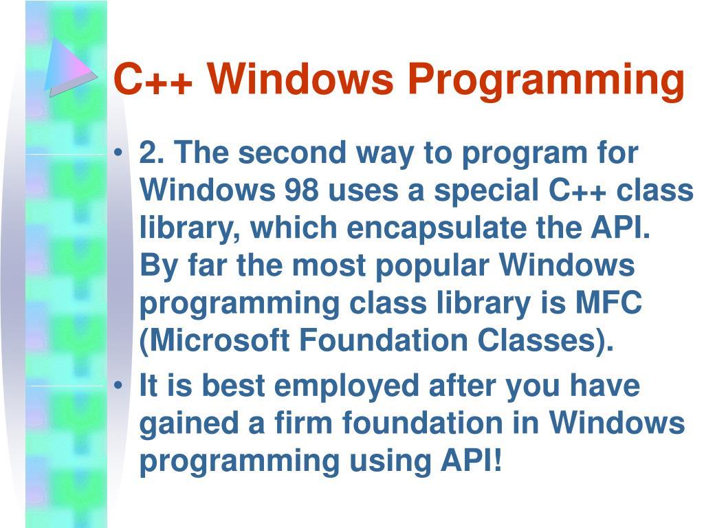 PPT - WINDOWS PROGRAMMING PowerPoint Presentation - ID:15745