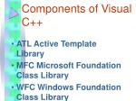 components of visual c