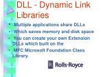 dll dynamic link libraries