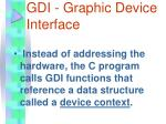 gdi graphic device interface