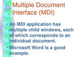 multiple document interface mdi