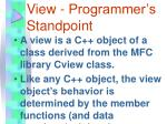 view programmer s standpoint