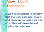 view user s standpoint