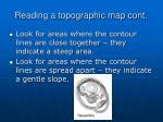 reading a topographic map cont