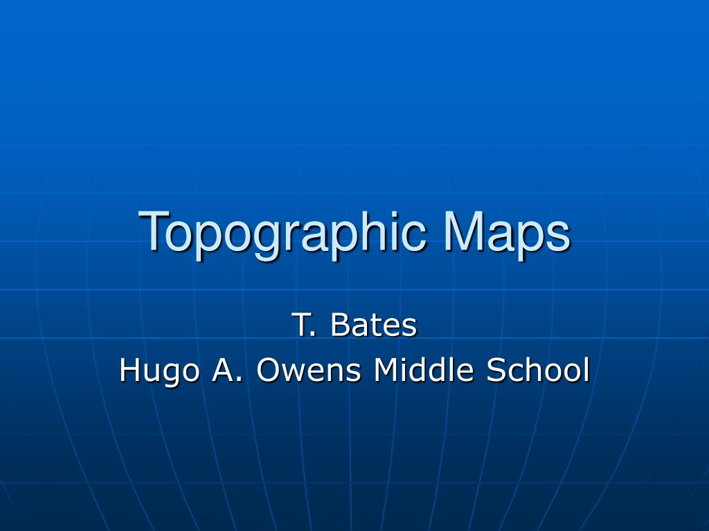 topographic maps l.