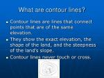 what are contour lines