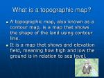 what is a topographic map