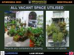 all vacant space utilised