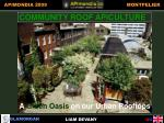 community roof apiculture