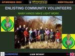enlisting community volunteers