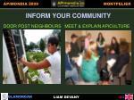 inform your community