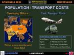 population transport costs
