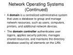 network operating systems continued
